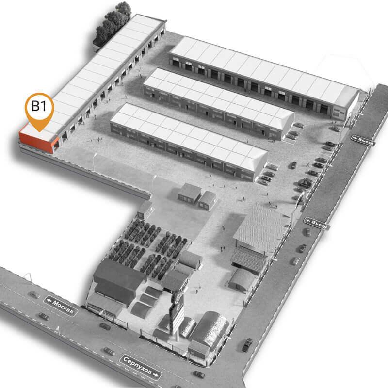Схематичное расположение павильона на территории